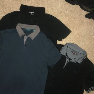 Bundle 3 men's collar t shirts